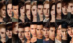 Some of the Twilight cast: Edward, Bella, Jacob, Alice, Jasper, Rosalie, Emmet, Carlisle, Esme, Bree, Felix, Demetri, Jane, Alec, Victoria, Riley, Sam, Paul, Jared, Embry, Quil, Leah, Seth, Emily