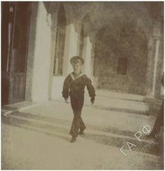 "Tsarevich Alexei Nikolaevich Romanov of Russia at Livadia Palace estate in 1912.   ""AL"""