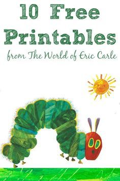 A ton of stuff from The World of Eric Carle including free printables and super fun iPhone app! Eric Carle, Book Activities, Preschool Activities, Hungry Caterpillar Craft, Very Hungry Caterpillar Printables, Coloring Books, Coloring Pages, Coloring Sheets, Book Crafts