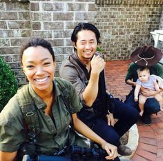 SONEQUA, STEVEN, CHANDLER & THE LIL' ACTRESS THAT PLAYS JUDITH.