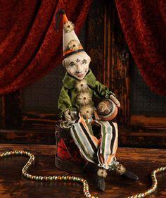 Clown On Drum Figurine Nostalgic Halloween Decor Bethany Lowe #BethanyLowe