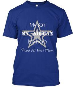 Proud Navy Mom, Support My Son! Orgogliosa Della Marina Mamma, Sostenere Il Mio Figlio! Women's Dark T-shi Delle Donne Scuro T-shi