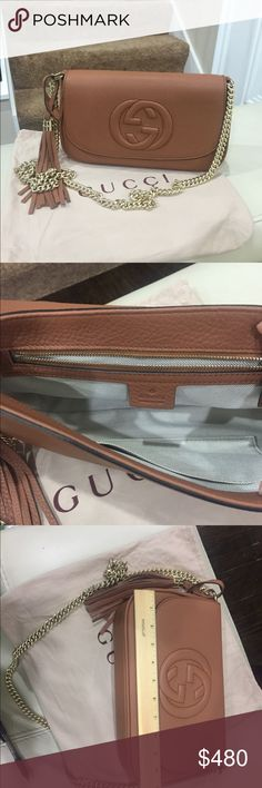 Handbag Absolutely beautiful handbag! High-quality material real leather. Includes dust bag. Price reflects Auth so please don't ask obvious sorry no trades Gucci Bags Crossbody Bags
