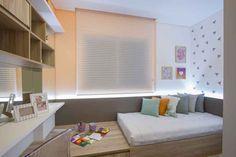 Estúdio Kza - dormitorio, dormitorio infantil, cinza, cores, papel de parede  - Apartamento decorado Porto Madero