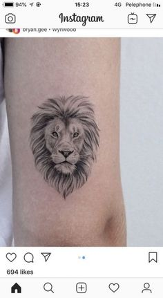 Top Tutorial and Ideas Leo Lion Tattoos, Girl Tattoos, Tattoos For Guys, Tattoos For Women, Small Lion Tattoo For Women, Family Tattoos, Small Tattoos, Tattoos Familie, Best Tattoo Ever