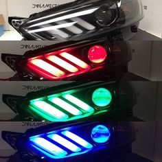 Your eyes aren't playing tricks on you. That's a Ford Fusion headlight that looks like an Mustang S550 Mustang, Ford Mustang Gt, Car Ford, Ford Trucks, Ford Fusion Accessories, Car Accessories, Ford Fusion Custom, 2013 Ford Fusion, Chevy 1500