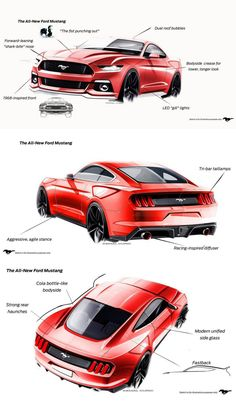 All new 2015 Ford Mustang design sketch, this looks amazing and beautiful.