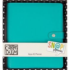 Carpe Diem! Aqua A5 Planner Kit - Amazing  Planner Collections -Carpe Diem Planner Product - A5 Planner - Aqua Item # - 4902 Description : Size: A5 (9-1/2x8-1/4x2 inch) w/6 rings         Split Leather Planner includes: (1) metal charm, (12) monthly calendar pages, (12) monthly tabbed dividers, (72) weekly inserts (1) A5 Tablet and (6) assorted inserts. Simple Stories Other