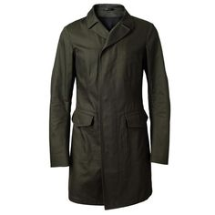 JIL SANDER Cotton Trench Coat ($1,420) ❤ liked on Polyvore