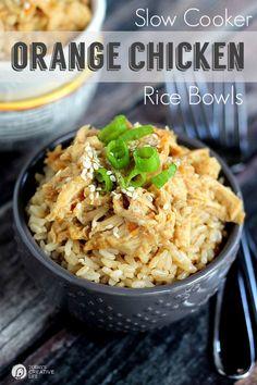 Slow Cooker Orange Chicken Rice Bowls (9)
