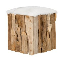 Tyree Footstool Leather Footstool, Knitted Pouffe, Indoor Trees, Apple Crates, Vintage Industrial Decor, Cocktail Ottoman, Home Additions, Cube Storage, Nature