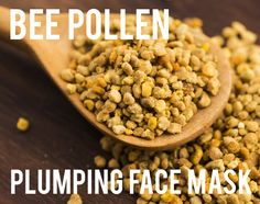 Easy DIY Bee Pollen Plumping Face Mask - Bee pollen plumps fine lines while the lactic acid in the milk exfoliates.  Plus, the avocado deeply hydrates your skin.