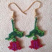 Eternal Spring Tulip Earrings - Item Number 17986
