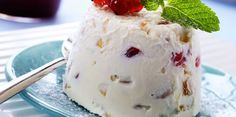 There are many versions of this Sicilian classic. This recipe highlights the versatility of ricotta in pairing it with candied fruit and lemon zest Chocolate Chip Cookies, Ricotta, Spumoni Ice Cream, American Desserts, Black Forest Cake, French Food, Eat Smarter, Carrot Cake, Recipes