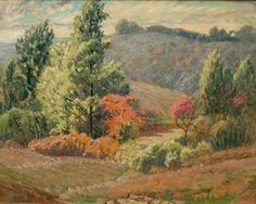 """L. O. Griffith """"Fall Comes Early to Brown County"""""""