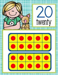 the BRAINY BUNCH Theme Classroom Decor / MATH / Number Line Banner to 20/ Illustrated / ARTrageous FUN / graphics by Melonheadz