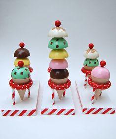 ikat bag: Wooden Ice Cream Parlor
