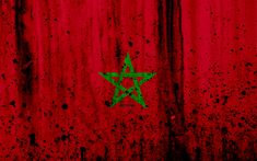 Download wallpapers Moroccan flag, 4k, grunge, flag of Morocco, Africa, Morocco, national symbols, Morocco national flag