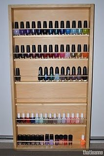 I really should have this polish rack because my stash is bigger than this!!