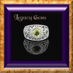 2.29ct Apatite and Demantoid Garnet Ring in by LegacyGems on Etsy, $315.00