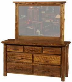 U0027Sawmill Campu0027 Dressers   The Log Furniture Store Log Bedroom Furniture,  Barn Wood