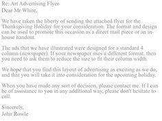 Promotional letter.