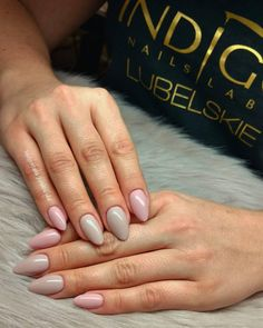 Miami Nude + Can't Speak French  By Małgosia Jankowska, Lublin #nails #nail #nude #nailsart #nudenails #indigonails #indigo #miami #nataliasiwiec #hotnails #summernails #springnails