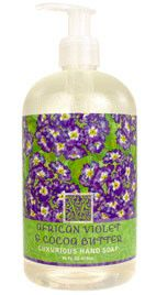 African Violet Shea Butter Liquid Soap by Greenwich Bay Trading Co