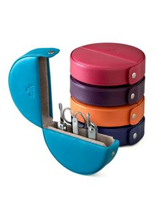 Look at these adorable travel manicure kits!  What a terrific stocking stuffer!