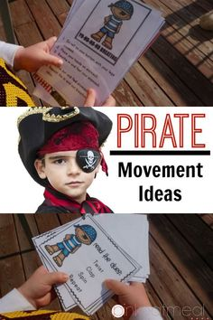 Pirate themed movement ideas- Gross motor, brain breaks, and yoga pose ideas with a pirate theme!  I love yo ho ho breathing!