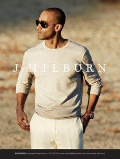 SWEATER  $99 Grey Cotton Cashmere Crewneck TROUSERS  $165  White Luxury Italian Linen