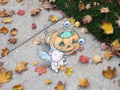 Chalk Art for All Seasons - David Zinn Chalk Drawings, Love Drawings, Art Drawings, David Zinn, 3d Street Art, Street Artists, Usa Street, Chalk Pictures, Imagination