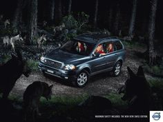 The Outdoor Advert titled SECURITY was done by Spillmann/felser/leo Burnett advertising agency for brand: Volvo in Switzerland. It was released in the Jan 2008.