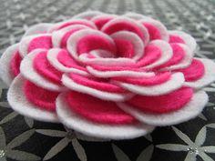 Felt Rose Pattern ABBEY ROSE No Sew Flower Tutorial Hairclip Headband Brooch Home Decor Accessory Pattern PDF ePattern eBook Tutorial How To...