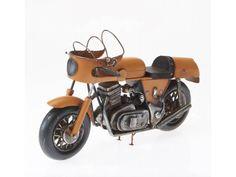 Blech-Modell Motorrad schwarz 19cm Oldtimer ca