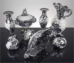 7 Parça Gümüş Papatya Salon Set