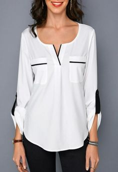 trendy tops for women online on saleShop Womens Fashion Tops, Blouses, T Shirts, Knitwear Online Trendy Tops For Women, Blouses For Women, Ladies Blouses, Blouse Styles, Blouse Designs, Casual Skirt Outfits, Ladies Dress Design, Hijab Fashion, Fashion Clothes