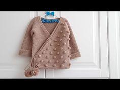 PONPON MODELİ KRUVAZE BEBEK HIRKASI - YouTube Baby Knitting Patterns, Baby Sweater Knitting Pattern, Teachers Pet, Moda Emo, Baby Sweaters, Nice Dresses, Diy And Crafts, Piercings, Baby Kids