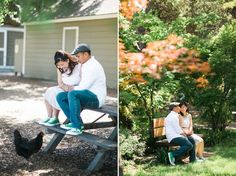 Hello Hen! Engagement Photos at Ardenwood Historic Farm in Fremont by Annie Hall Photography.