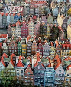 Gdansk Poland [Non-OC] - Architecture and Urban Living - Modern and Historical Buildings - City Planning - Travel Photography Destinations - Amazing Beautiful Places Places To Travel, Places To See, Travel Destinations, Vacation Travel, Overseas Travel, Gdansk Poland, Travel Aesthetic, Travel Around The World, Victorian Houses