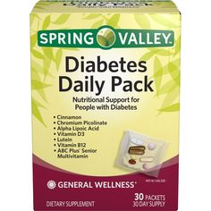 Spring Valley Diabetes Daily Pack Dietary Supplement Packets *** Find out more about the great product at the image link.