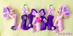 ✿Arte do Feltro✿: Luana ( Tema: Borboletas e Flores)