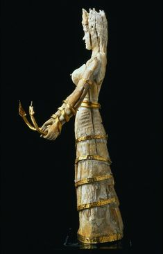 "ancient-serpent: "" Snake goddess from Minoan costume 2900-1100 bc """