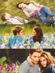 Edward & Bella ♥ The Meadow scenes where it all started and where the story ends ♥ - TwiFans-Twilight Saga books and Movie Fansite Twilight Bella And Edward, Edward Bella, Twilight New Moon, Twilight Saga Quotes, Twilight Series, Twilight Movie, Kiss And Romance, Robert Pattinson And Kristen, Twilight Pictures