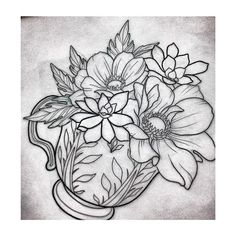 Pretty excited to tattoo these #anemone and #succulents on Saturday…