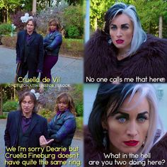 "#OnceUponATime 4x13 ""Darkness on the Edge of Town"" - Rumple, Ursula and Cruella"