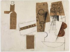 New Collage By Cubist Artist | 100 Years Ago Today