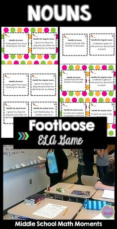 Looking for a fun activity to practice noun concepts? Keep your ELA students engaged and practicing with Nouns Footloose!
