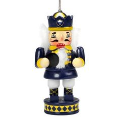 Buffalo Sabres 2012 Nutcracker Ornament by Forever Collectibles. $6.95. Now you can hang the popular Nutcracker to support your team and decorate your tree! This 3.5'' version can be hung on any tree. Each ornament is hand crafted and hand painted with official team colors and logos. Officially licensed.