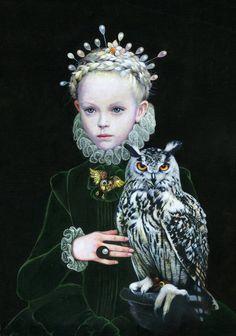 "Saatchi Art Artist Titti Garelli; Painting, ""QUEEN OF OWL"" #art"